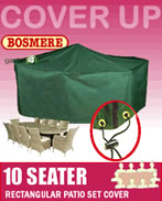 Small Image of Rectangular Furniture Set Cover (10 Seater) - Bosmere C538