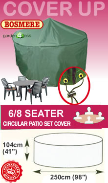 Image of Circular Furniture Cover (6 to 8 Seater) - Bosmere C523