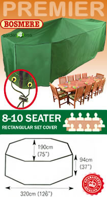 Image of Rectangular Furniture Cover (8-10 Seater Set) - Bosmere P036