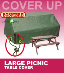 image of large picnic table cover 8 seater c630