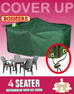 Small Image of Rectangular Furniture Cover (4 Seater Set) - Bosmere C525