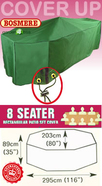 Image of Rectangular Furniture Set Cover (8 Seater Set) - Bosmere C535