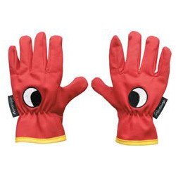 Image of Bosmere Childrens Red Gloves - Eye Embroidered