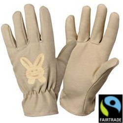 Image of Bosmere Fairtrade Childrens Small Gloves - Rabbit Embroidered