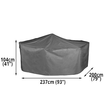 Image of Bosmere Protector 7000 Premier Rectangular Patio Set Cover - 6 Seat