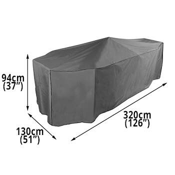 Image of Bosmere Protector 7000 Premier Rectangular Patio Set Cover - 8 Seat