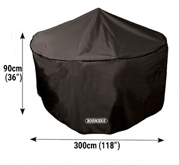 Image of Bosmere Protector 6000 Circular Patio Set Cover - 8 Seat