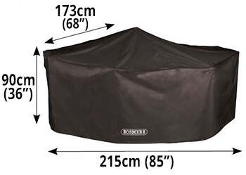 Image of Storm Black Rectangular 4 Seater Cover