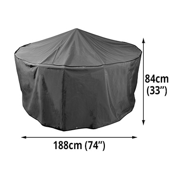 Image of Bosmere Protector 7000 Premier Circular Patio Set Cover - 6 seat