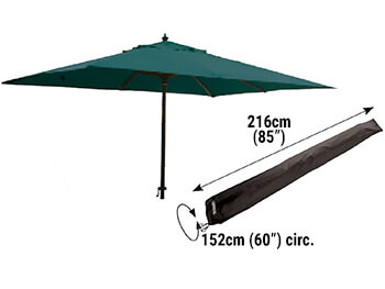 Image of Bosmere Protector 6000 Giant Parasol Cover With Zip - D596