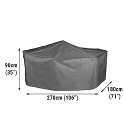 Small Image of Bosmere Protector 7000 Premier Rectangular Patio Set Cover - 6 Seat