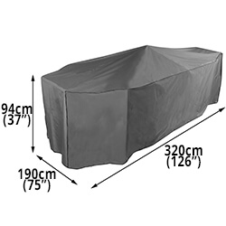 Small Image of Bosmere Protector 7000 Premier Rectangular Patio Set Cover - 8-10 Seat