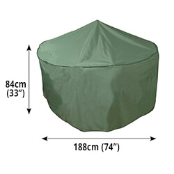 Small Image of Circular Furniture Cover (4 to 6 Seater) - Bosmere C520