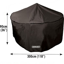 Small Image of Bosmere Protector 6000 Circular Patio Set Cover - 8 Seat