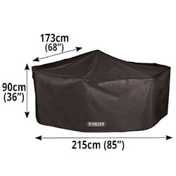 Small Image of Storm Black Rectangular 4 Seater Cover