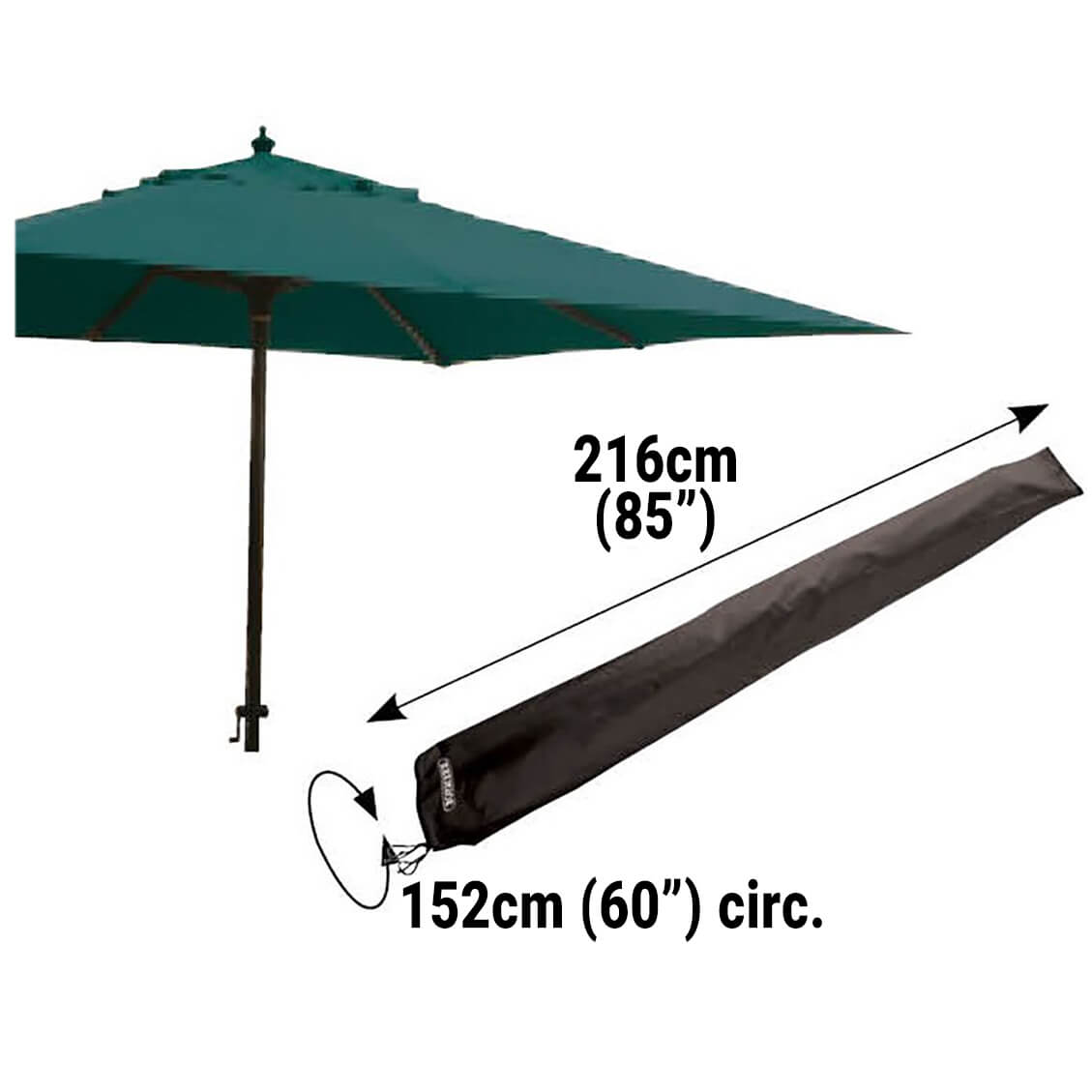 Small Image of Bosmere Protector 6000 Giant Parasol Cover With Zip - D596
