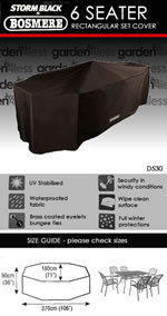 Small Image of Rectangular Furniture Set Cover (6 Seater Set) - Storm Black