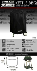 Small Image of Bosmere Protector 6000 Storm Black Kettle BBQ Cover