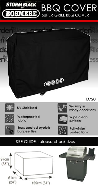 Image of Storm Black Super Grill BBQ Cover
