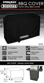 Small Image of Storm Black Super Grill BBQ Cover