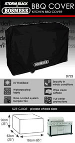 Small Image of Bosmere Storm Black Kitchen BBQ Cover