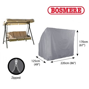Small Image of Bosmere Thunder Grey 3 Seater Hammock Cover - U505