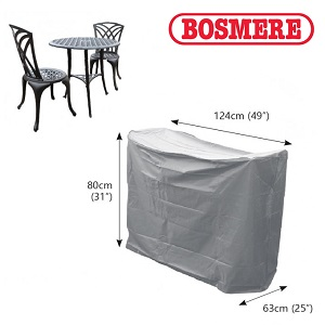 Image of Bosmere Thunder Grey Bistro Set Cover - U511