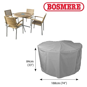 Image of Thunder Grey 4 to 6 Seater Circular Patio Set Cover