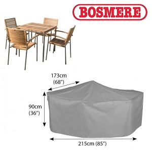 Small Image of Bosmere Thunder Grey Rectangular 4 Seater Cover