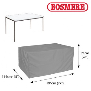 Image of Thunder Grey Rectangular 8 Seater Table Only Cover