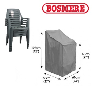 Image of Bosmere Thunder Grey Stacking/Reclining Chair Cover - u570