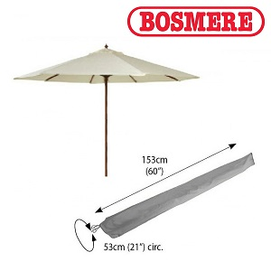 Small Image of Bosmere Thunder Grey Large Parasol Cover - u590