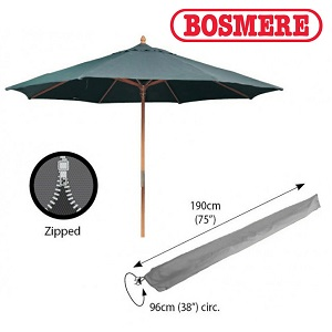 Image of Bosmere Thunder Grey Extra Large Parasol Cover - u595