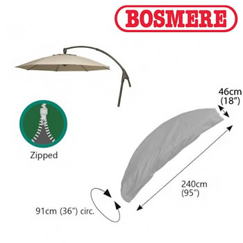 Image of Thunder Grey Bosmere Cantiliver Parasol Cover - u597