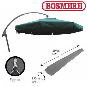 Image of Bosmere Thunder Grey Free Standing Sail Parasol Cover - u598