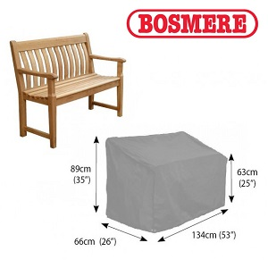 Image of Bosmere Thunder Grey Garden Bench Cover (2 Seater) - u605