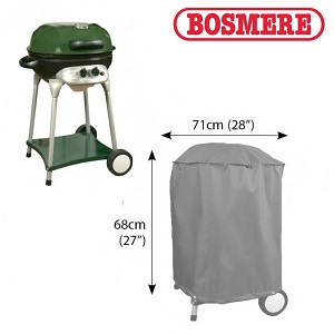 Image of Bosmere Thunder Grey Kettle BBQ Cover - u700