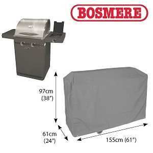 Bosmere Thunder Grey Super Grill BBQ Cover - u720