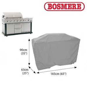 Image of Bosmere Thunder Grey Kitchen BBQ Cover - u723