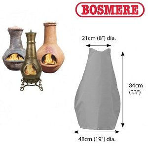 Image of Bosmere Thunder Grey Medium Chimenea Cover - U750