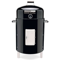Small Image of Smoke n Grill - Brinkmann Charcoal Smoker and Grill - Black