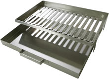 Image of Stainless Steel Fire Grate and Ash Box for All Buschbeck Masonary BBQ