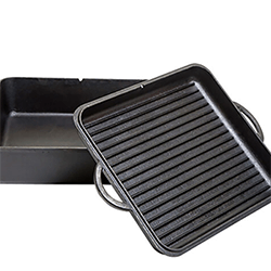Small Image of Camp Chef Cast Iron Square Dutch Oven