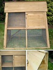 Basic Chicken Coop with Covered Run