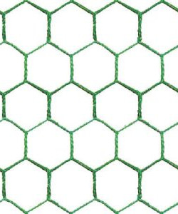 Image of 25mm PVC Coated Galvanised Chicken Wire Netting - 10m x 50cm