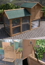 Superior Sherwood Extra Large Raised Chicken Coop with Enclosed Run