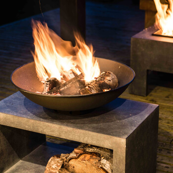 Extra image of Firefly Fire Bowl and Table Console Rectangle - Granite Black