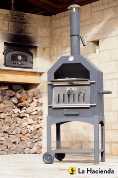Extra image of Lorenzo Pizza Oven and Smoker by La Hacienda - 56107