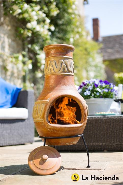 Cortez mexican chimenea from la hacienda 67062 garden4less uk shop - La hacienda chimenea ...