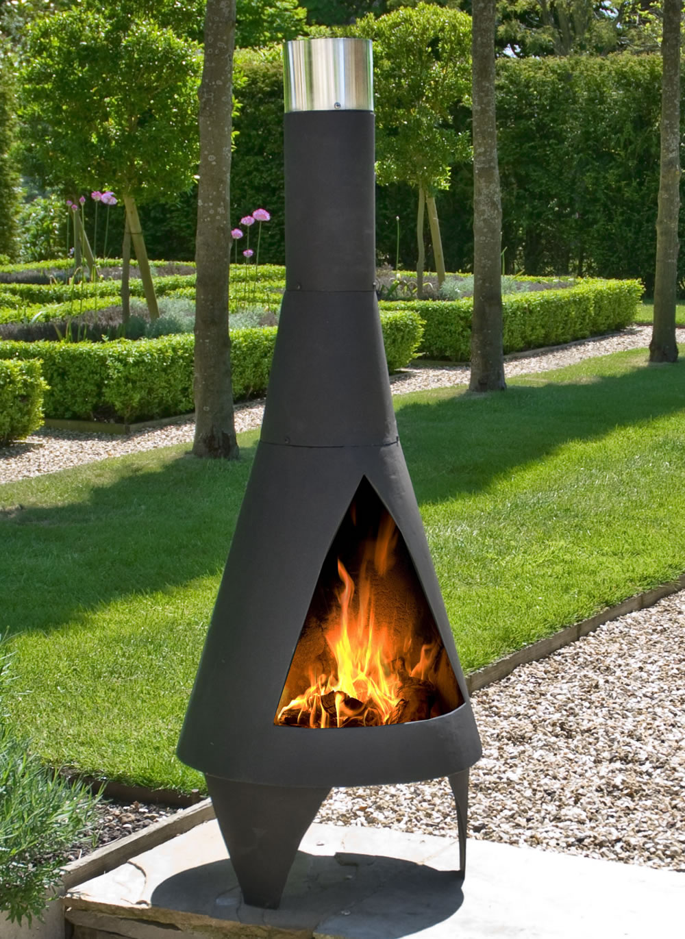 Colorado Black Medium Steel Chiminea By La Hacienda 163 110
